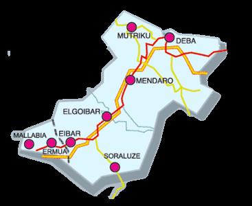 mapa-debabarrena-taxi-eibar-asociados